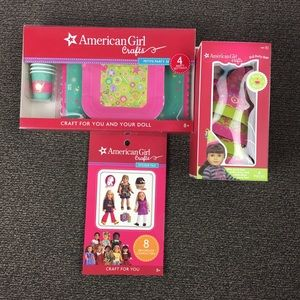 American Girl Party Hats Plates Cups Stickers 3 Pc